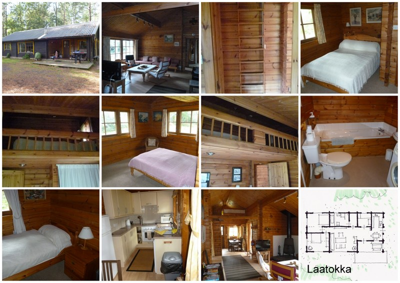 Collage of Laatokka holiday cottage near the New Forest